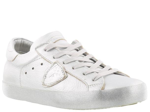 glitter paris metal silver shoes