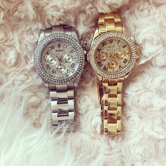 jewels clock watch money&rolex