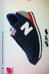 shoes,new balance,blue,navy,red,white,grey,girl,fashion,pretty,brand,sportswear,sneakers,low top sneakers,blue sneakers