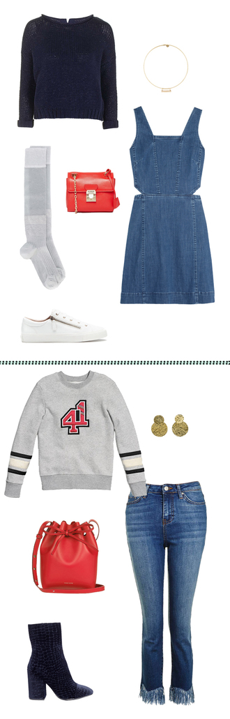sweater navy sweater bff two-piece red bag mini bag designer bag denim dress gold earrings gold choker cute socks sheer socks velvet boots white sneakers frayed denim cut-out dress dress jeans shoes underwear bag jewels