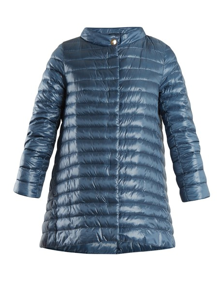 Herno jacket down jacket high quilted blue