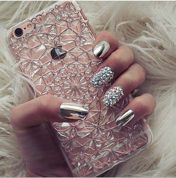 nail polish, silver nail polish, silver, iphone 6 case, phone cover ...