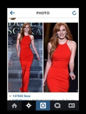 dress,prom dress help me,bella thorne,reddress promdress,red dress