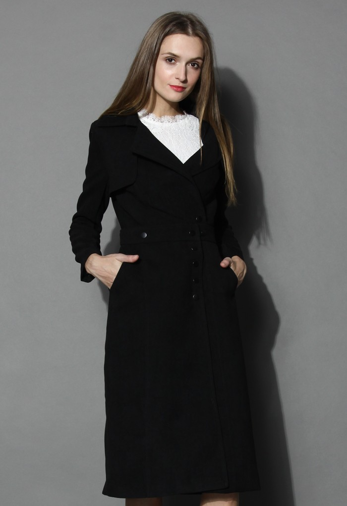 Black variety queen coat and skirt set