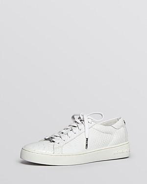 a12edbeb773 MICHAEL Michael Kors Flat Lace Up Sneakers - Keaton Python-Embossed |  Bloomingdale's