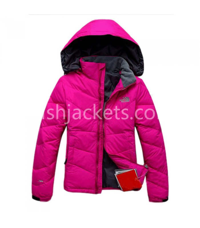 Hot Pink Womens Outdoor Down Jacket North Face Bj130052