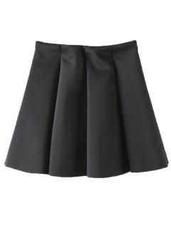 Black simple skater skirt