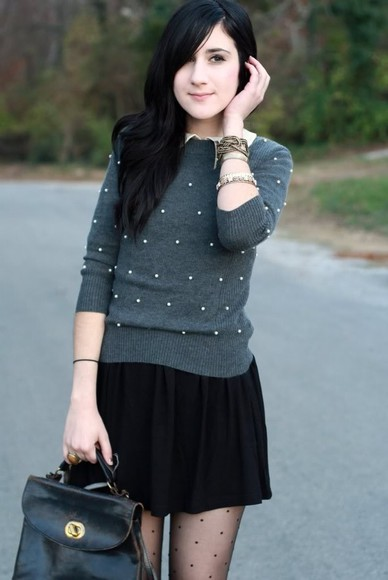 flashes of style grey sweater