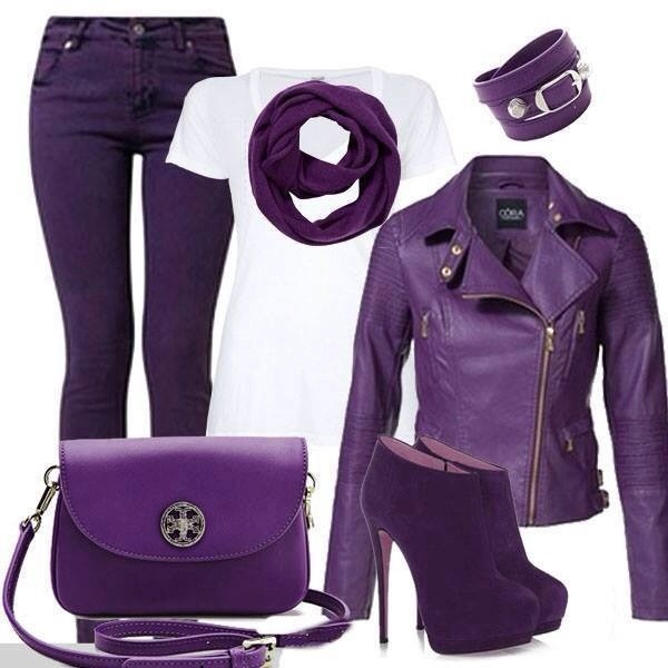 shoes purple jacket love the shoes