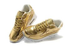 New nike air max 90 prm tape gold women/youth golden shoes sz 5.5, 6.5, 7, 8