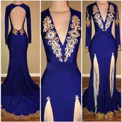dress,prom,gown,slit,royal blue,formal,blue,maxi