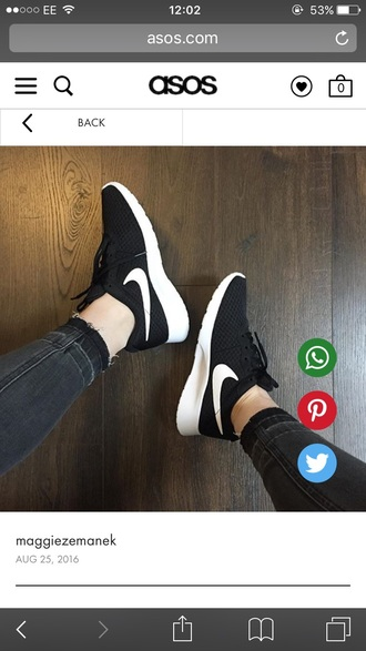shoes nike trainers black and white nike sneakers