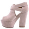 Womens ladies suede platform high wedge womens strappy wedge heel shoes gizz 3-8 | ebay