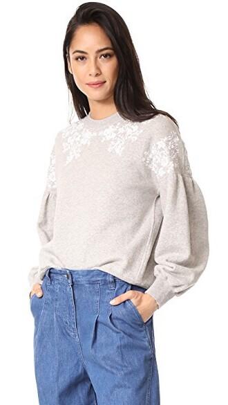 pullover grey heather grey sweater