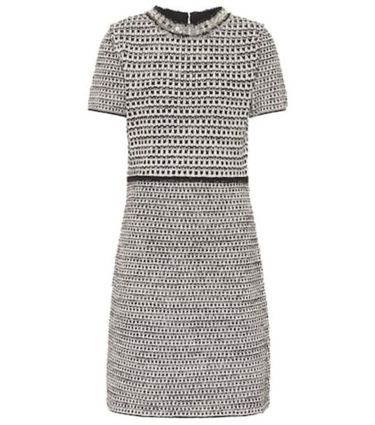 Tory Burch Embellished tweed dress in grey
