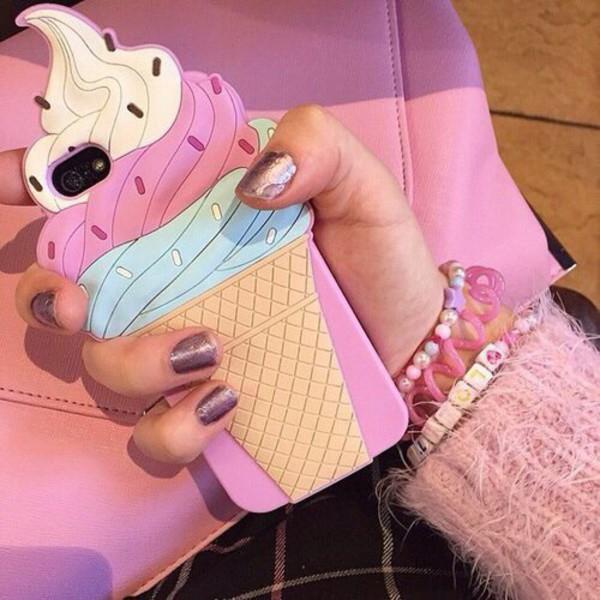 phone cover iphone cover iphone case iphone ice cream fashion tumblr instagram iphone 6 case iphone 5 case iphone 4 case iphone 5s iphone 5c iphone 6 plus pink iphone case iphone 6 cover blue iphone case