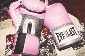 scarf pink everlast gloves boxing sportswear