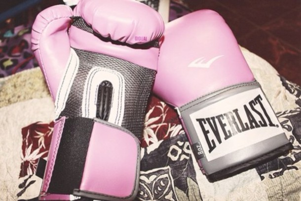 scarf pink everlast gloves boxing sportswear dope