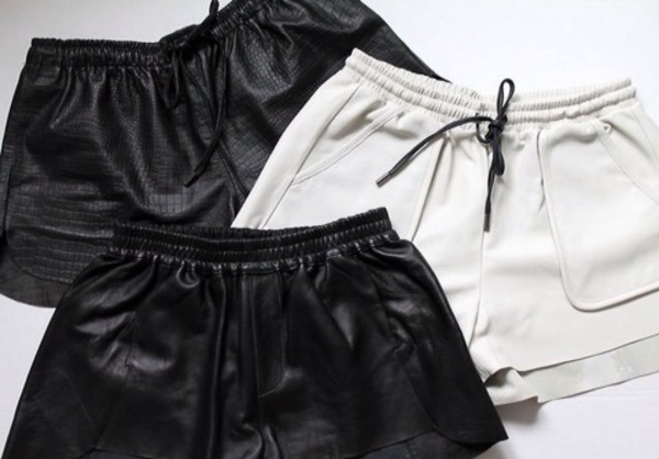 shorts leather shorts swimwear leather shorts