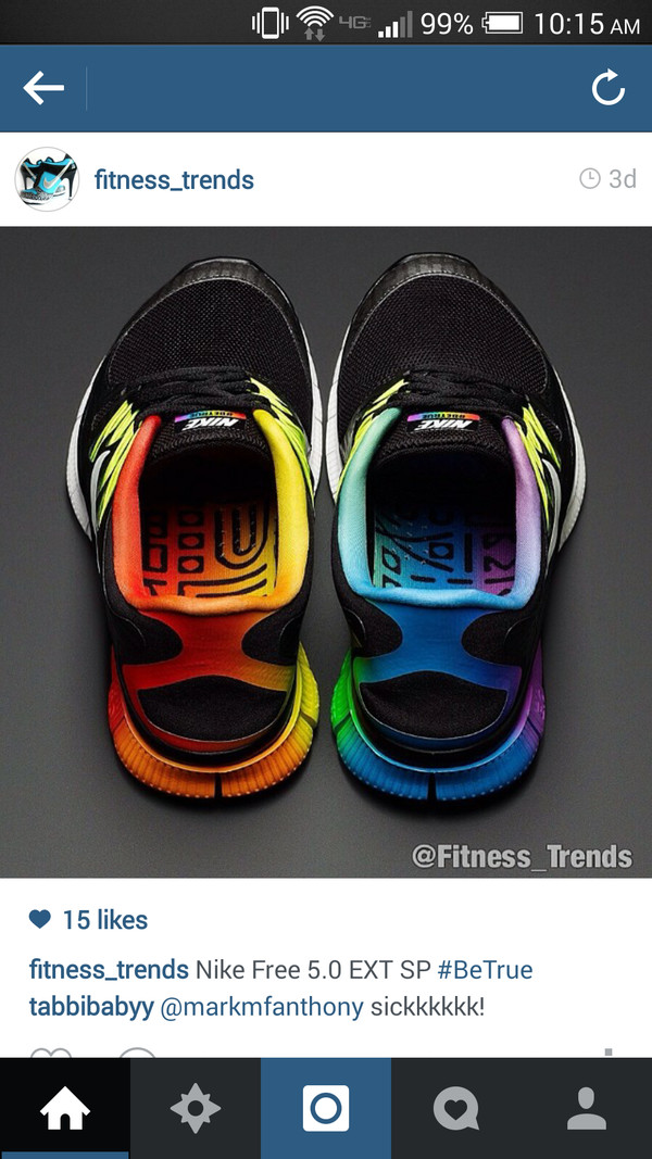 shoes nike running shoes nike nike free run 5.0 rainbow