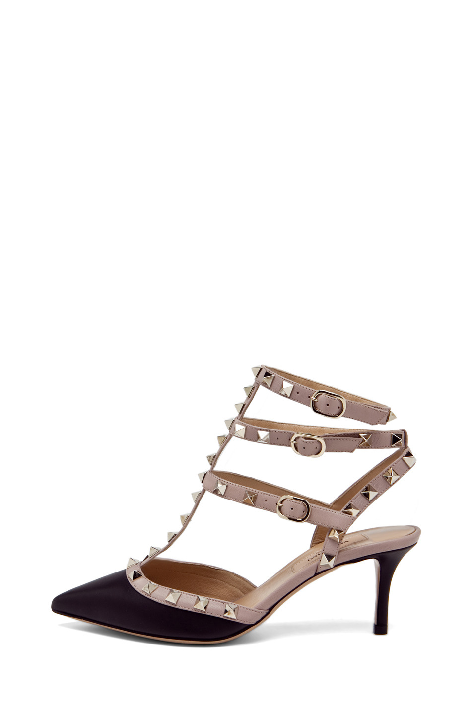 Valentino|Rockstud Leather Sling Back T.65 in Black