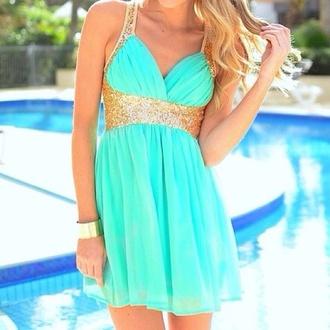 dress mint short prom dress mint dress gold gold glitter glitter dress prom dress ebonylace.storenvy ebonylace-streetfashion
