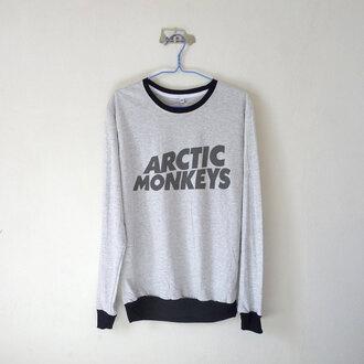 sweater artic monkeys grey