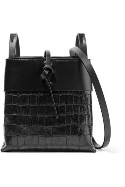 kara matte bag shoulder bag leather black