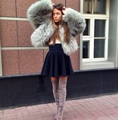 jacket,fur,faux fur jacket,fur coat,skirt,shorts,shoes,fuzzy coat