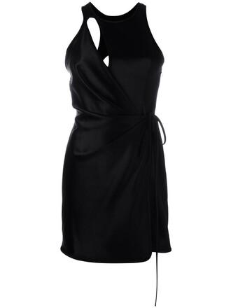 dress mini dress mini women black silk wool