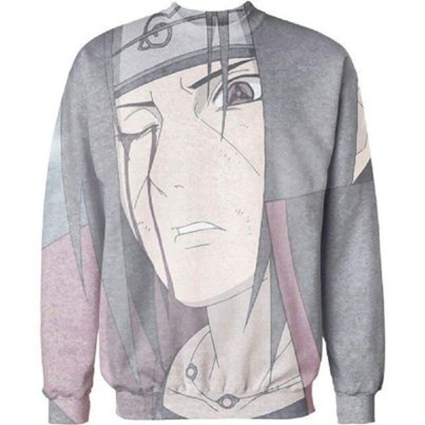 sweater itachi uchiha mangekyou sharingan blood akatsuki naruto please i want this sweater :(