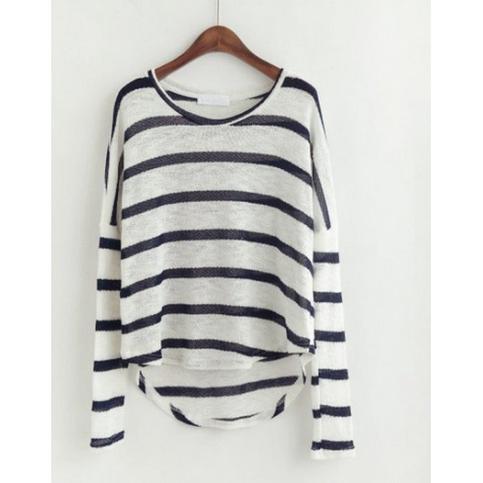 Lazy day stripe knit top from doublelw on storenvy