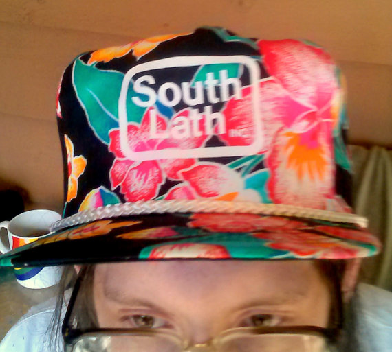 Vintage floral tropical south lath snapback hat by remcycled