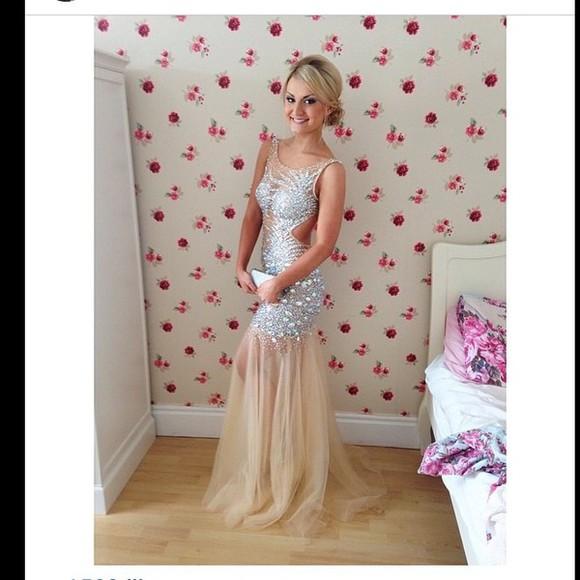 prom dresses 2014 sequins cocktail dress mermaid