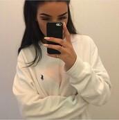 shirt,white,ralph lauren,ralph lauren sweater