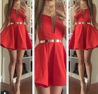 dress red dress beautiful red dress party dress sexy party dresses classy dress chic dress gold dress
