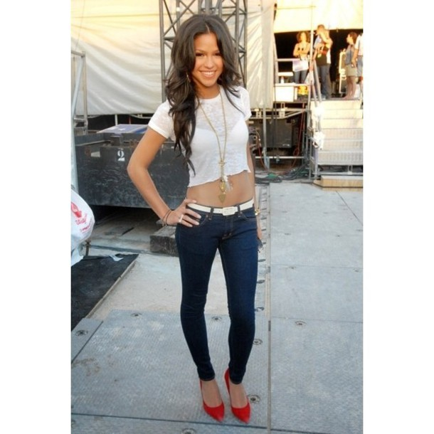 Jeans: cassie ventura, fashion, shoes, red lime sunday ...