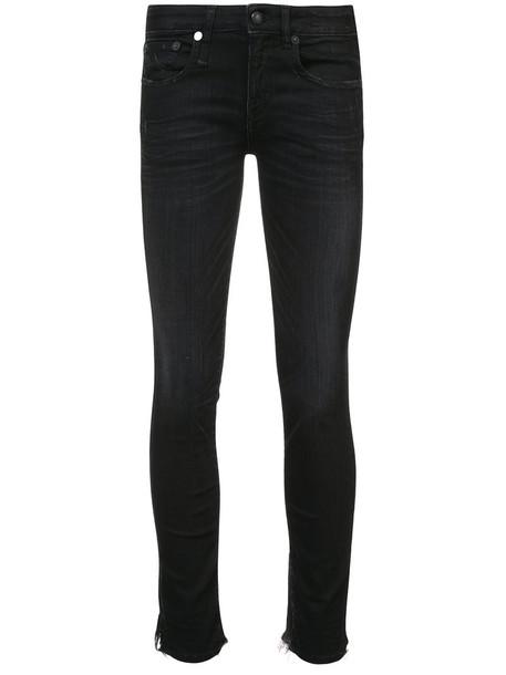 R13 jeans skinny jeans women spandex cotton black