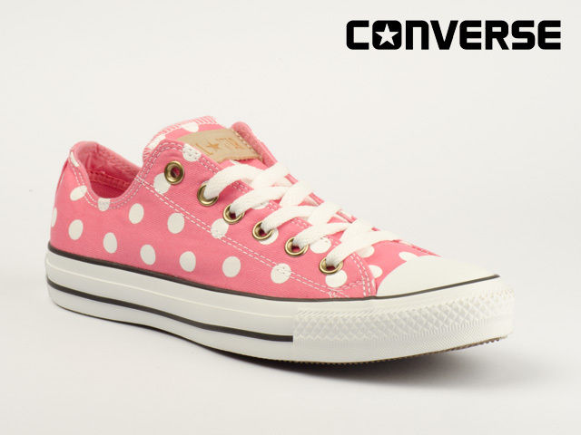 Converse Schuhe Chucks CT ALL Star OX 530050C Polka DOT Strawberry Pink Weiß | eBay