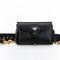 D-bee mini saddle bag in black calfskin - dior