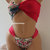 PADDED Bikini Set & brazilian bottom-spandex bandeau.2pcs.Hot pink floral