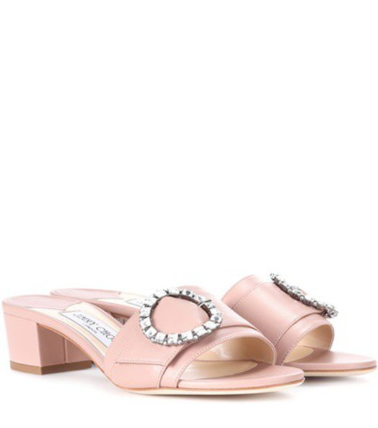 Jimmy Choo leather pink shoes