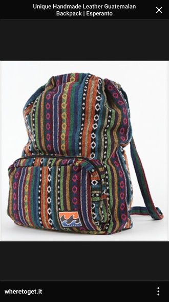 bag guatemala backpack
