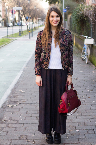 style and trouble blogger pants jacket pattern red bag