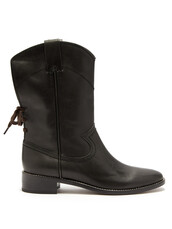 leather boots,leather,black,shoes
