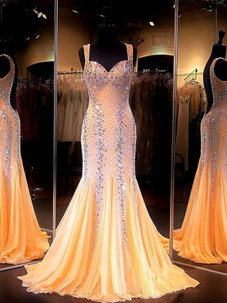 dress prom elegant fashion style gown formal nude beautiful homecoming dress dressofgirl