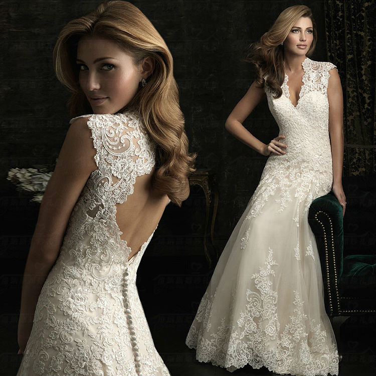 Aliexpress.com : Buy 2014 New Ivory/White Mermaid wedding bridal gown dress custom size 2 4 6 8 10 12 14 16,Sheath,Sexy Backless ivory wedding dress from Reliable dress adult suppliers on Making your dreaming dress!