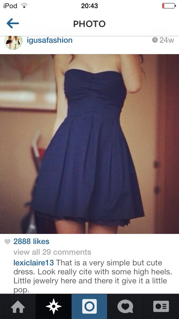 dress navy simple dress cute dress