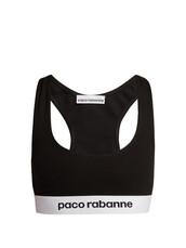 bra,sports bra,jacquard,black,underwear
