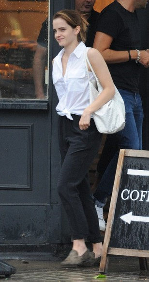 shirt emma watson pants shoes